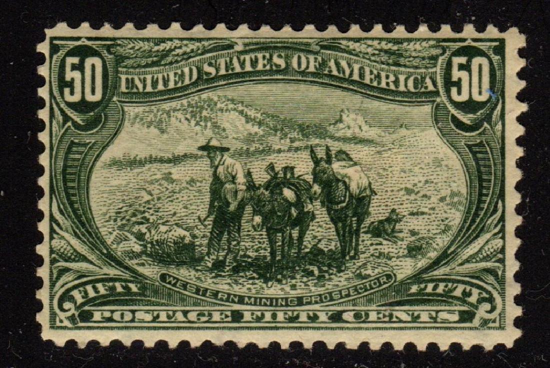 U.S. Scott 291 F-VF OG H 50¢ Prospectors SCV.$550