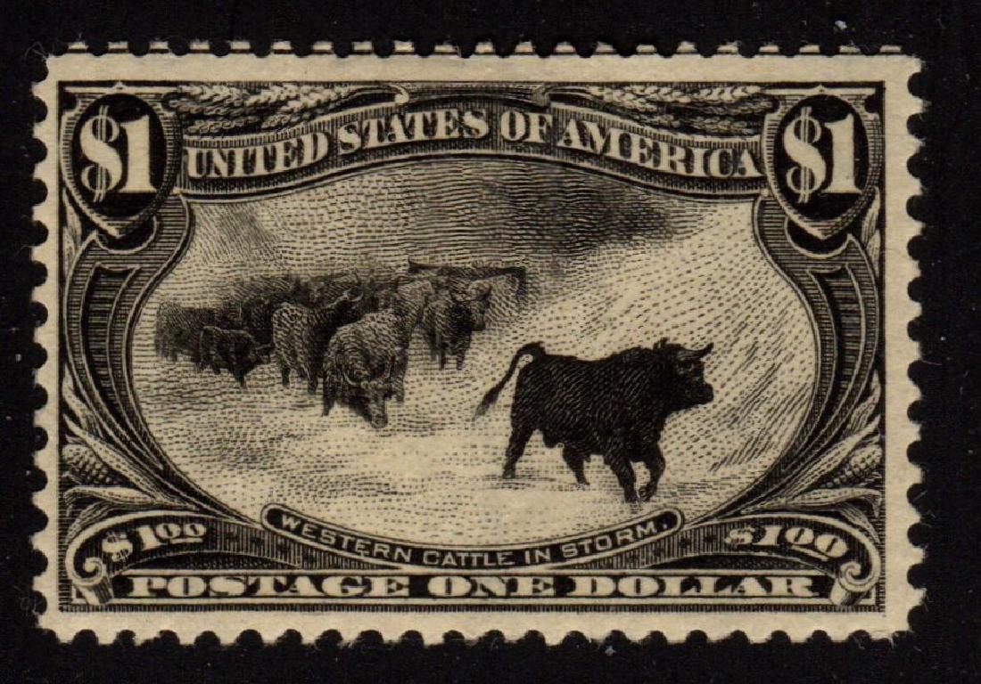 U.S.Scott 292 F-VF OG H $1 Cattle in the Storm