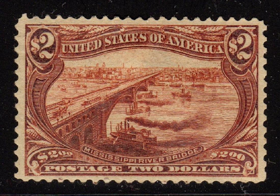 U.S. Scott 293 VF OG H $2 Bridge SCV.$1800