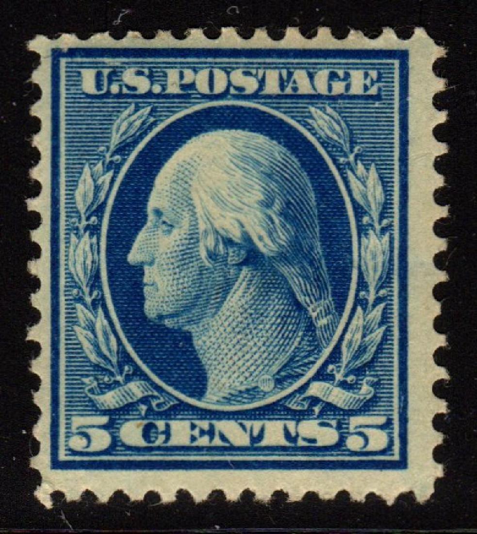 U.S.Scott 335 F-VF OG NH 5¢ Washington SCV.$110