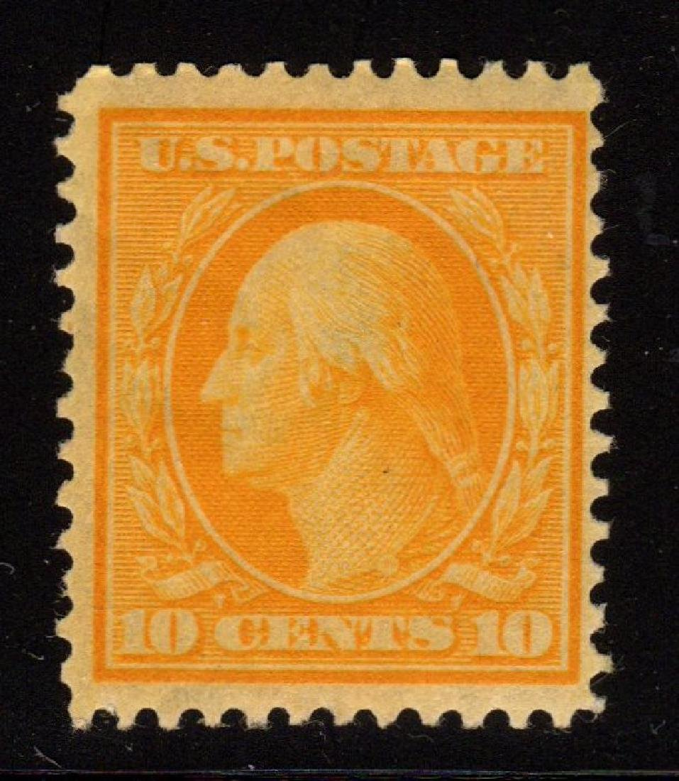 U.S.Scott 338 F-VF OG NH 10¢ Washington SCV.$160