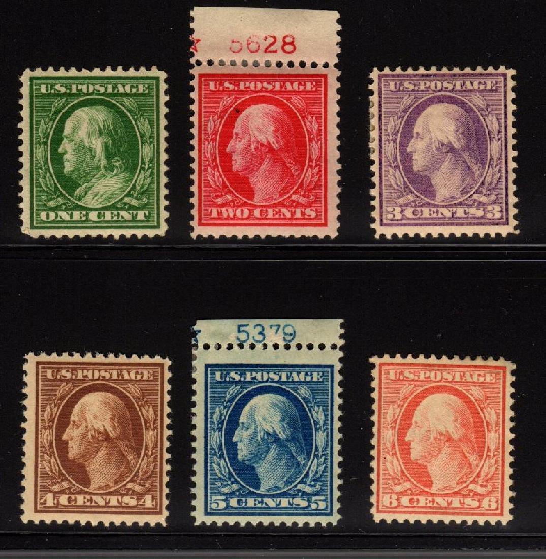 U.S. Scott 374-379 F-VF OG NH/H SCV.$168