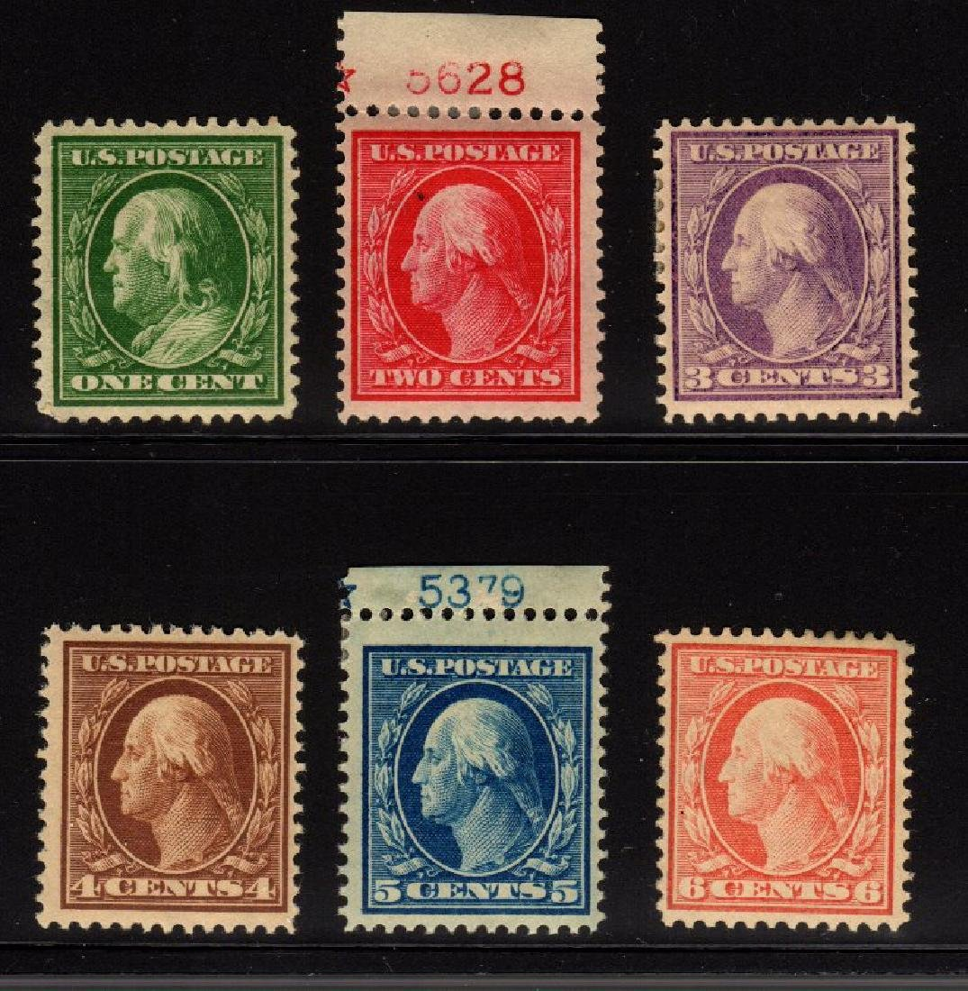 U.S. Scott 374-379 F-VF OG NH/H SCV.$168
