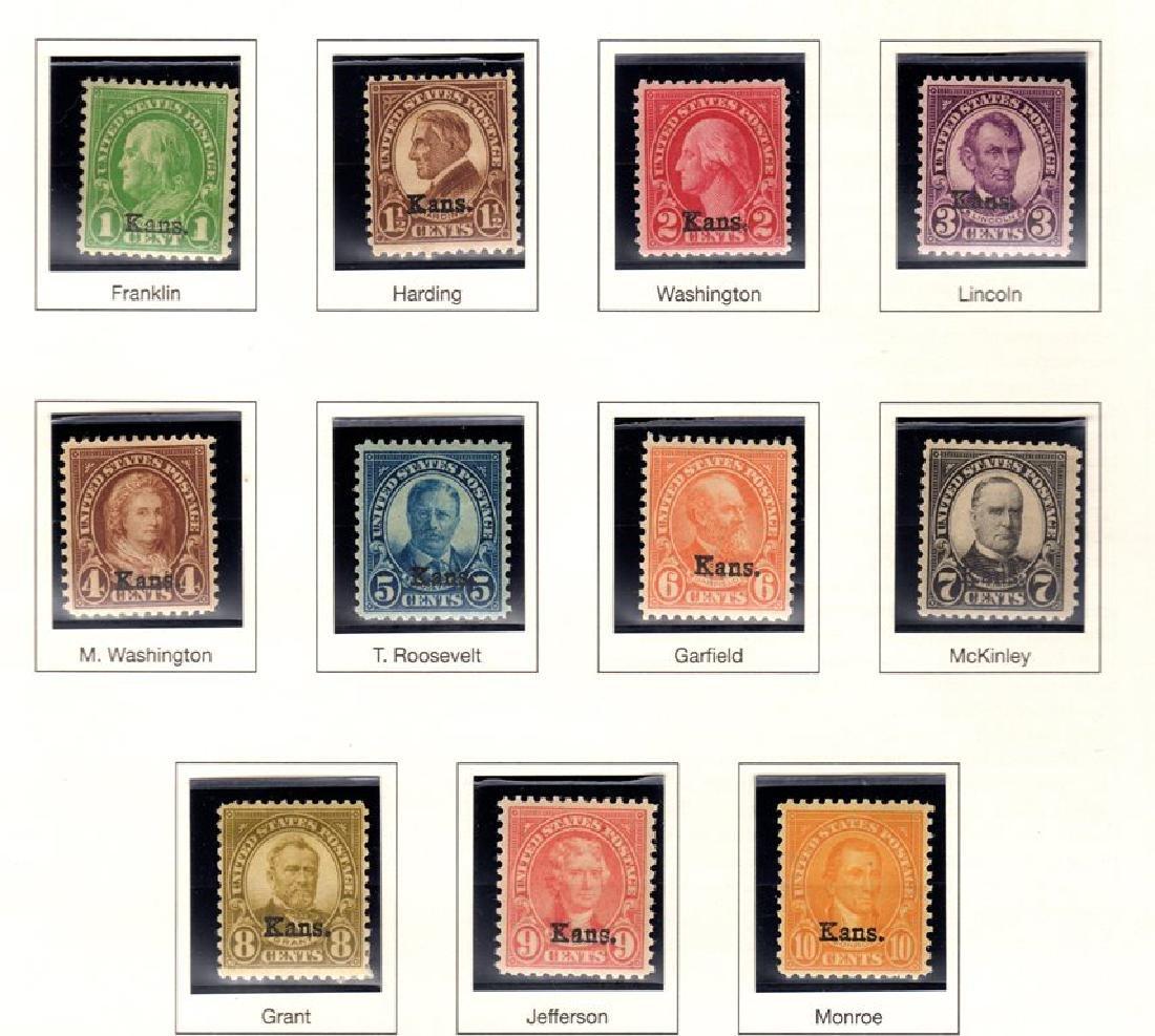 United States Scott 658-668 Kansas Overprints SCV.$216
