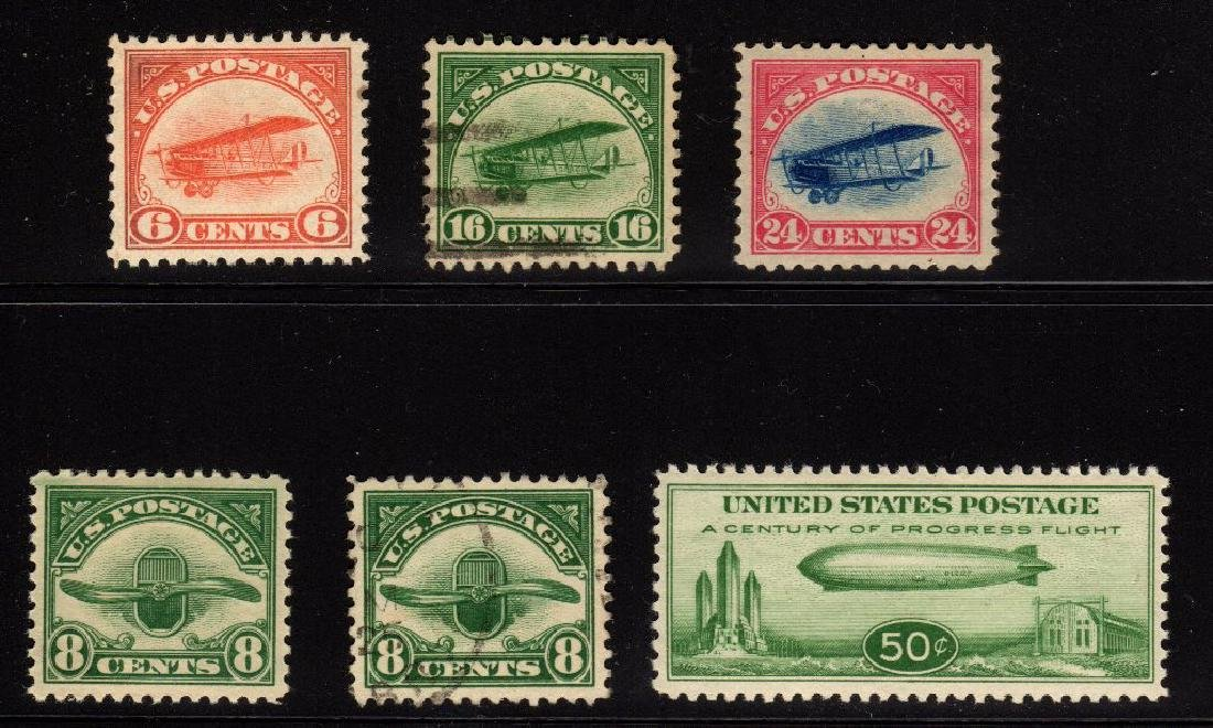 U.S. Unused Used Airmail Selection C1//C18 SCV.$310