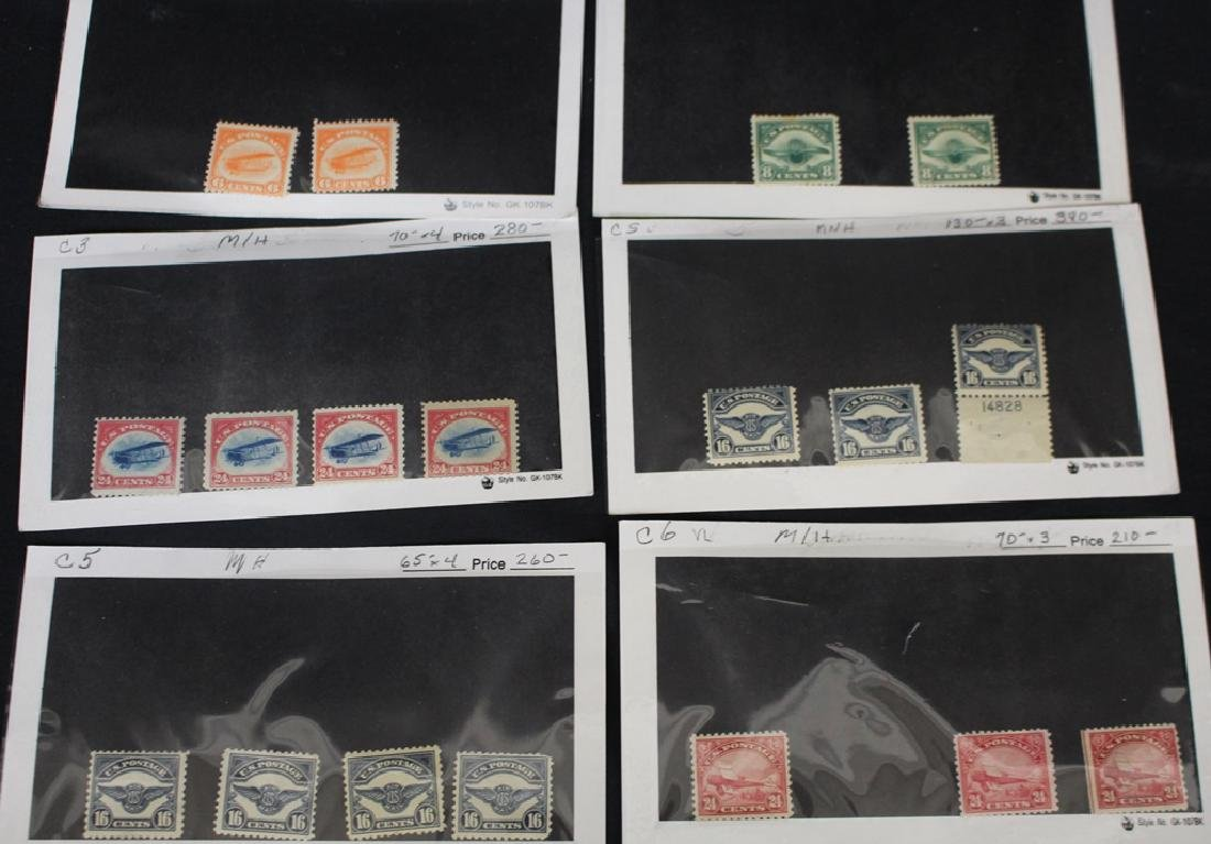 Retired Dealer Stock of Unused Airmail Stamps