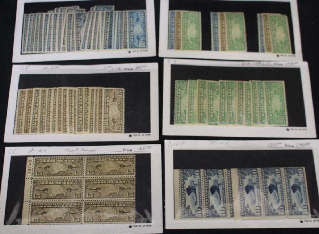 Retired Dealer Stock of Unused Airmail Stamps - 3