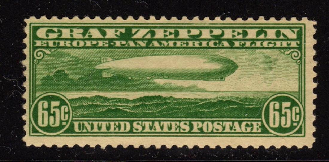 U.S. Scott C13 F-VF OG NH 65¢ Graf Zeppelin SCV.$250