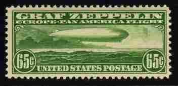 U.S.Scott C13 VF OG VLH Graf Zeppelin SCV.$180