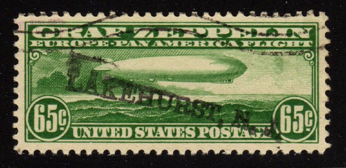 United States Scott C13 XF Used Graf Zeppelin SCV.$165