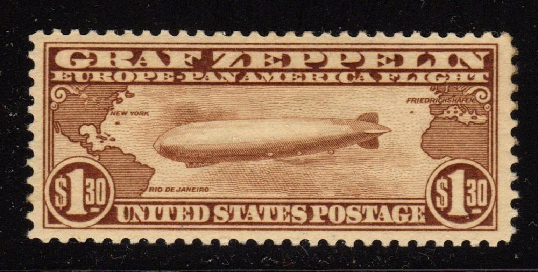 United States Scott C14 VF OG LH $1.30 Graf Zeppelin