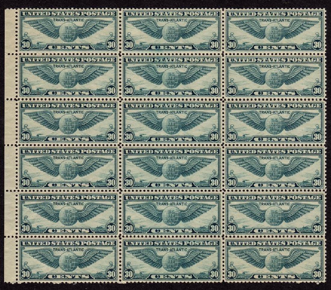U.S. Scott C24 Block of 16 VF OG NH SCV.$176
