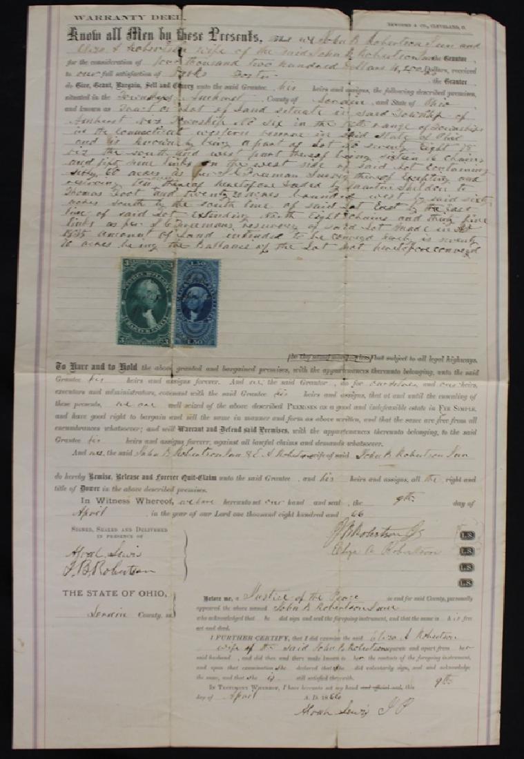 United States R85, R120 on 1886 Warranty Deed