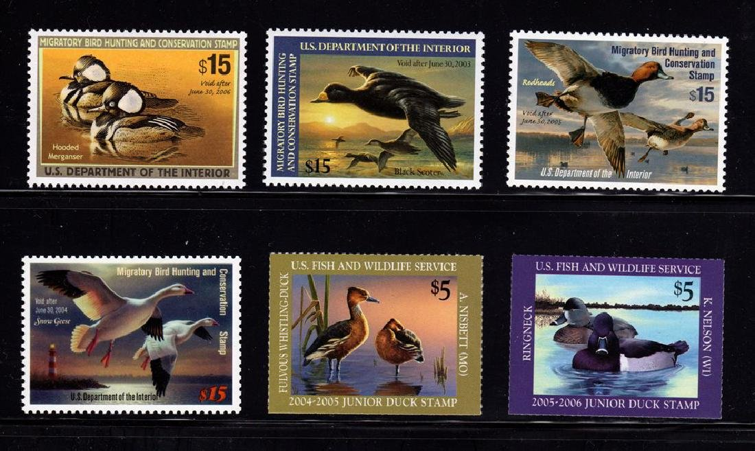 (4)Federal and (2)Junior Duck Stamps