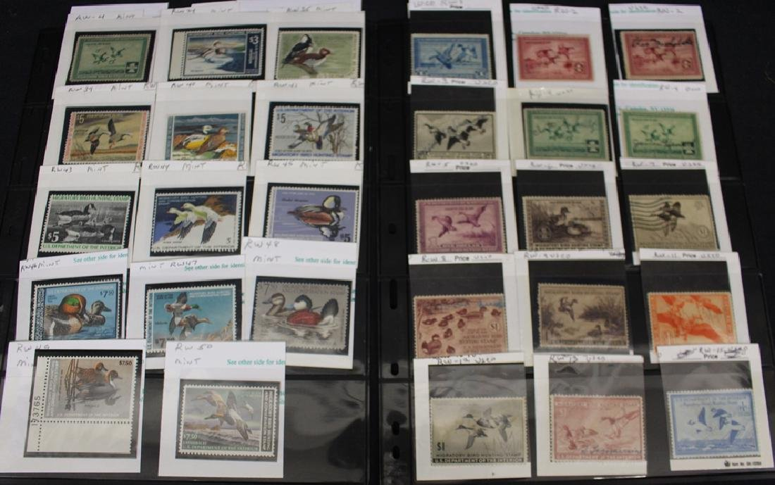 U.S. Federal Duck Stamp Unused Used Collection