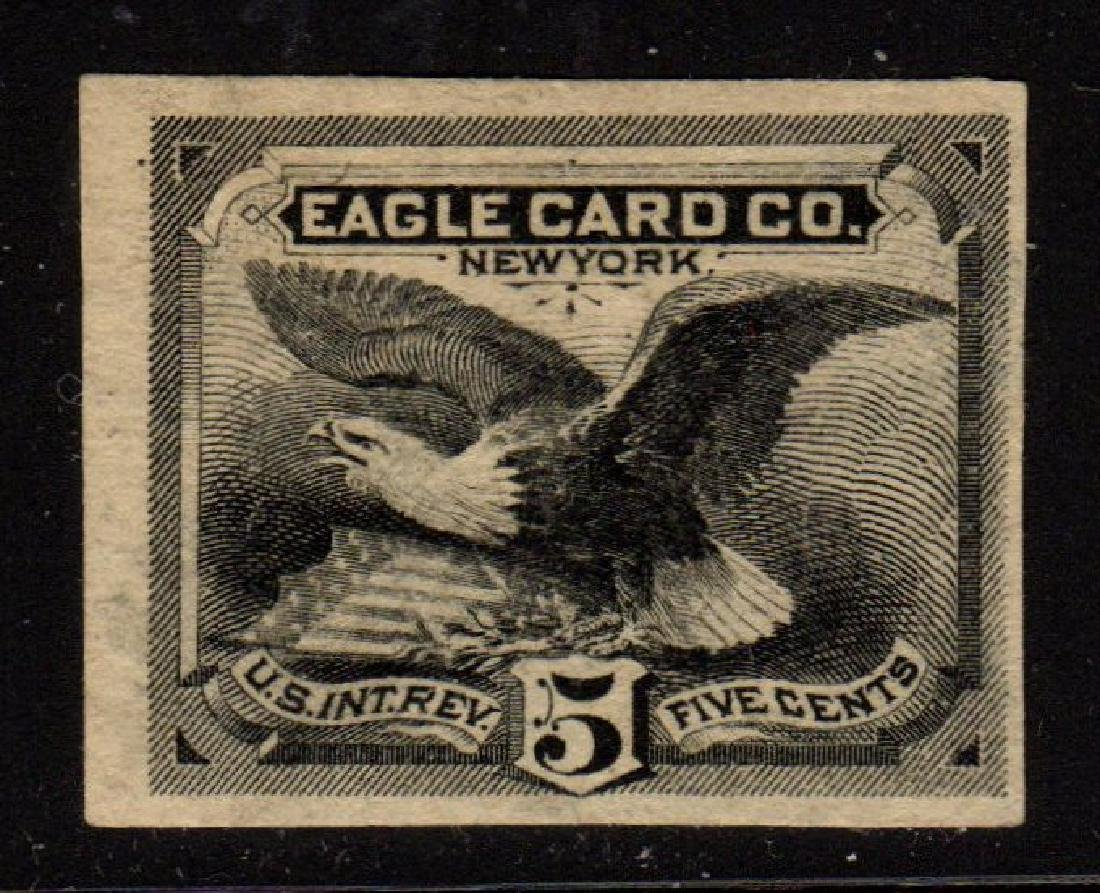 U.S. Scott RU7p3 India proof VF Eagle Card Co. SCV.$100