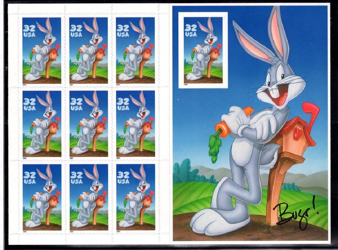 U.S.Scott 3138 Imperf Bug Bunny Pane of 10 SCV.$140
