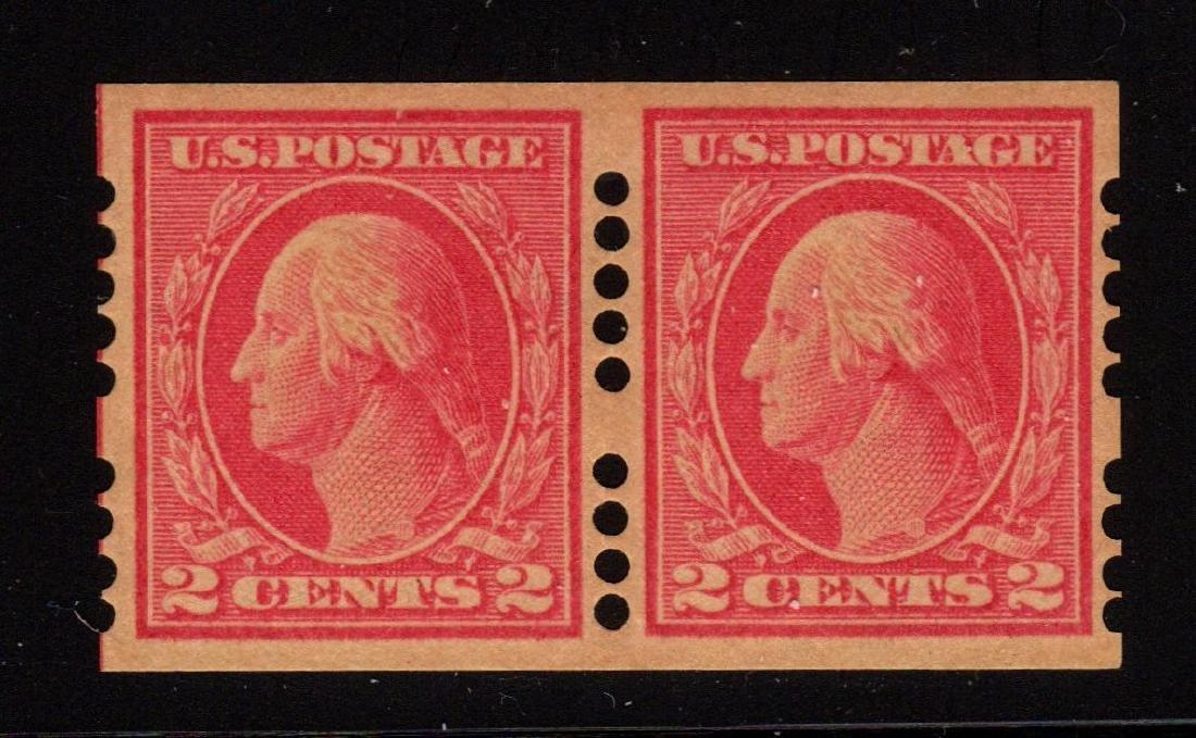 U.S. Scott 409 VF OG LH Farwell Type A Unused Pair
