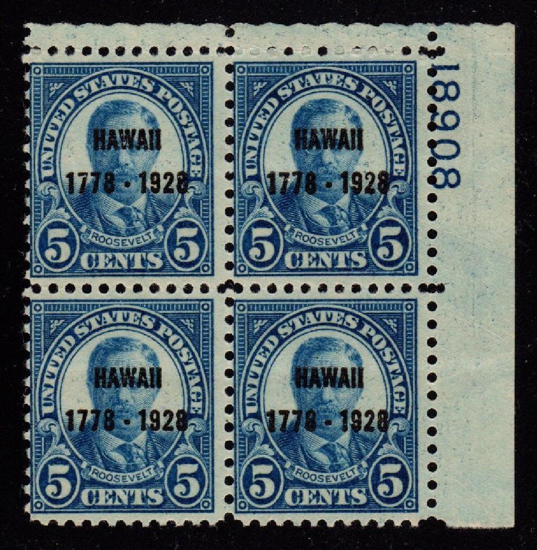 United States Scott 648 Fine OG NH p#block of 4