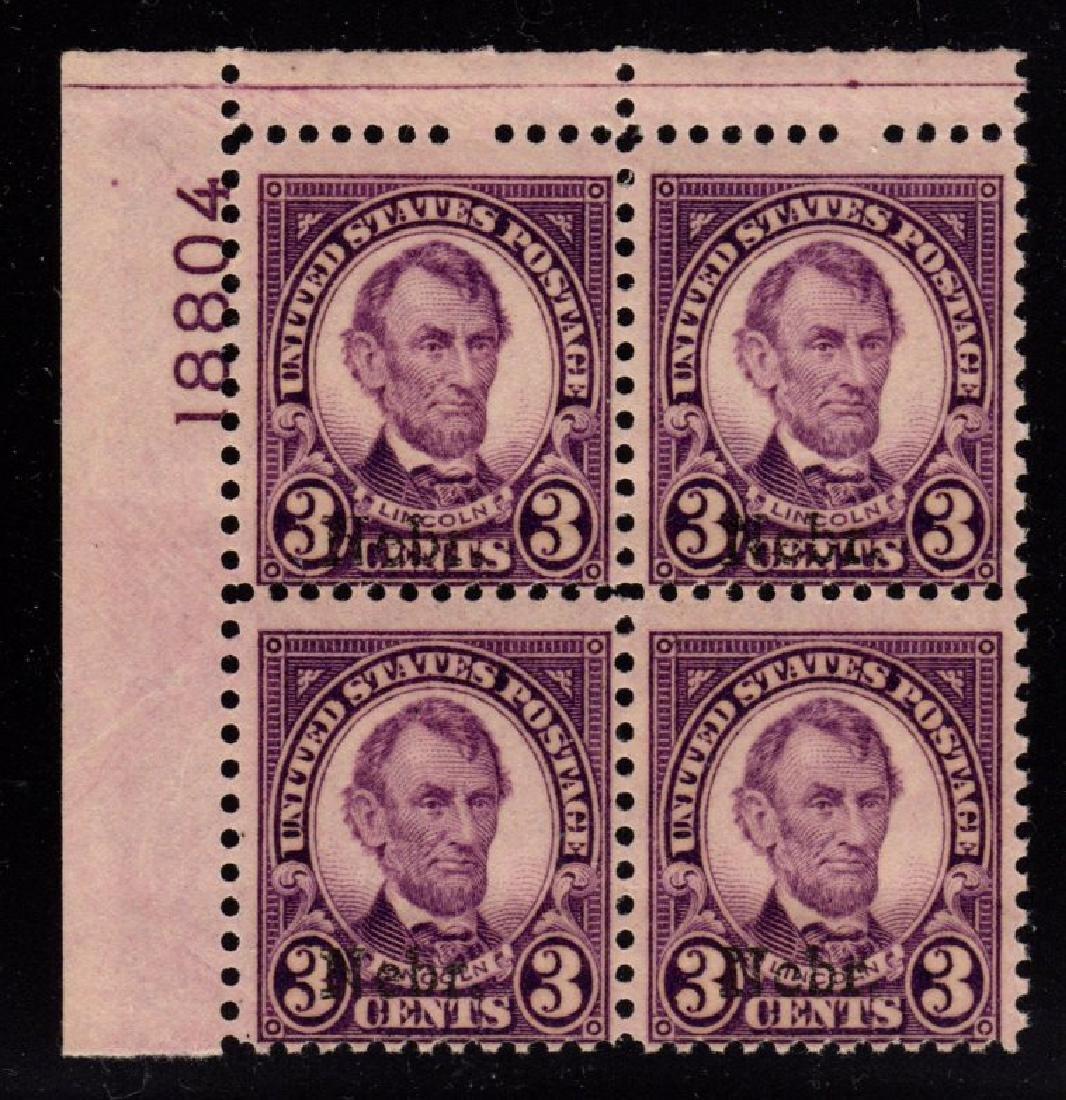 United States Scott 672 Fine OG NH p#block of 4