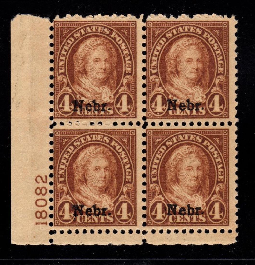 United States Scott 673 Fine OG NH p#block of 4
