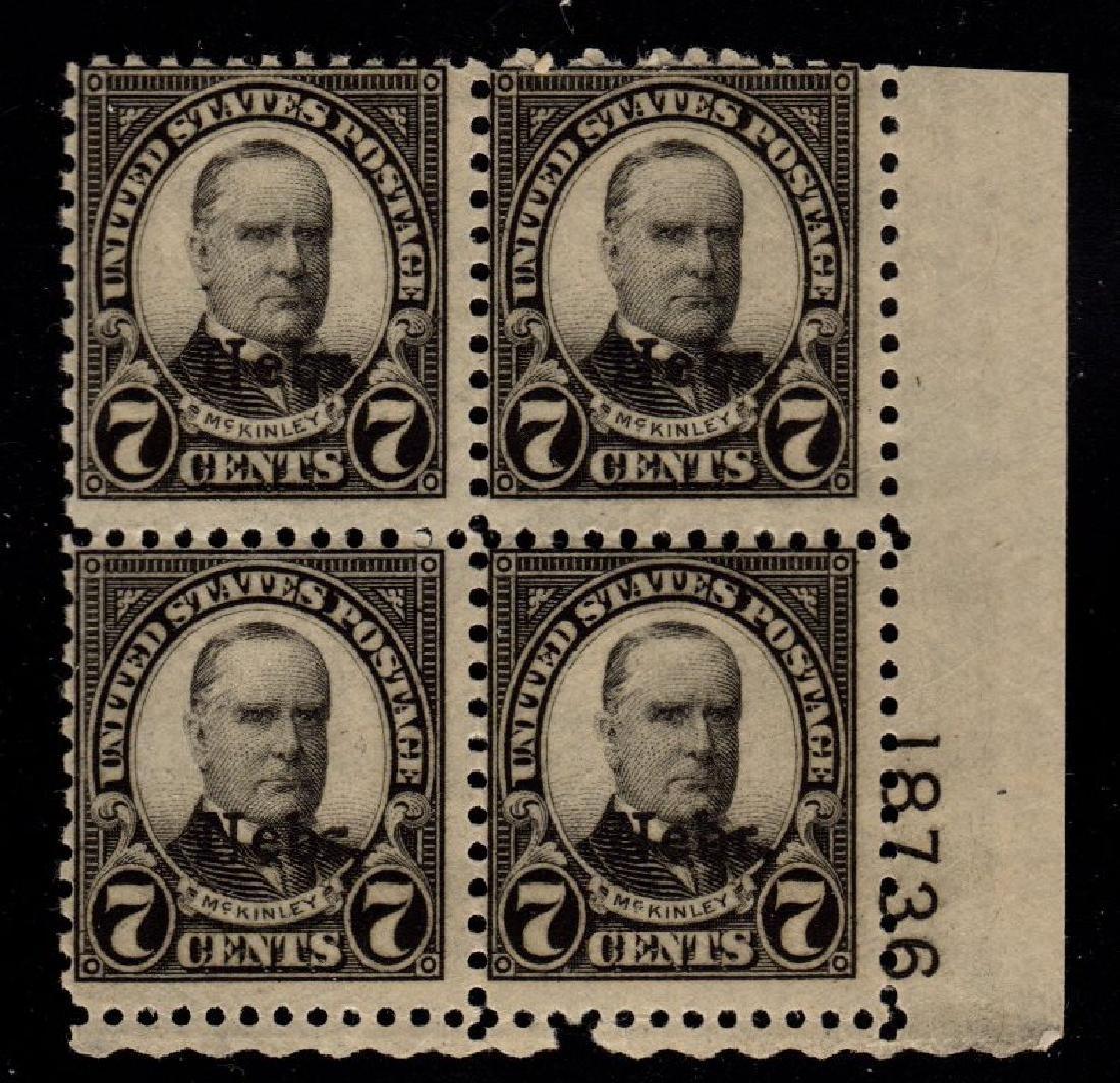 United States Scott 676 Fine OG NH p#block of 4