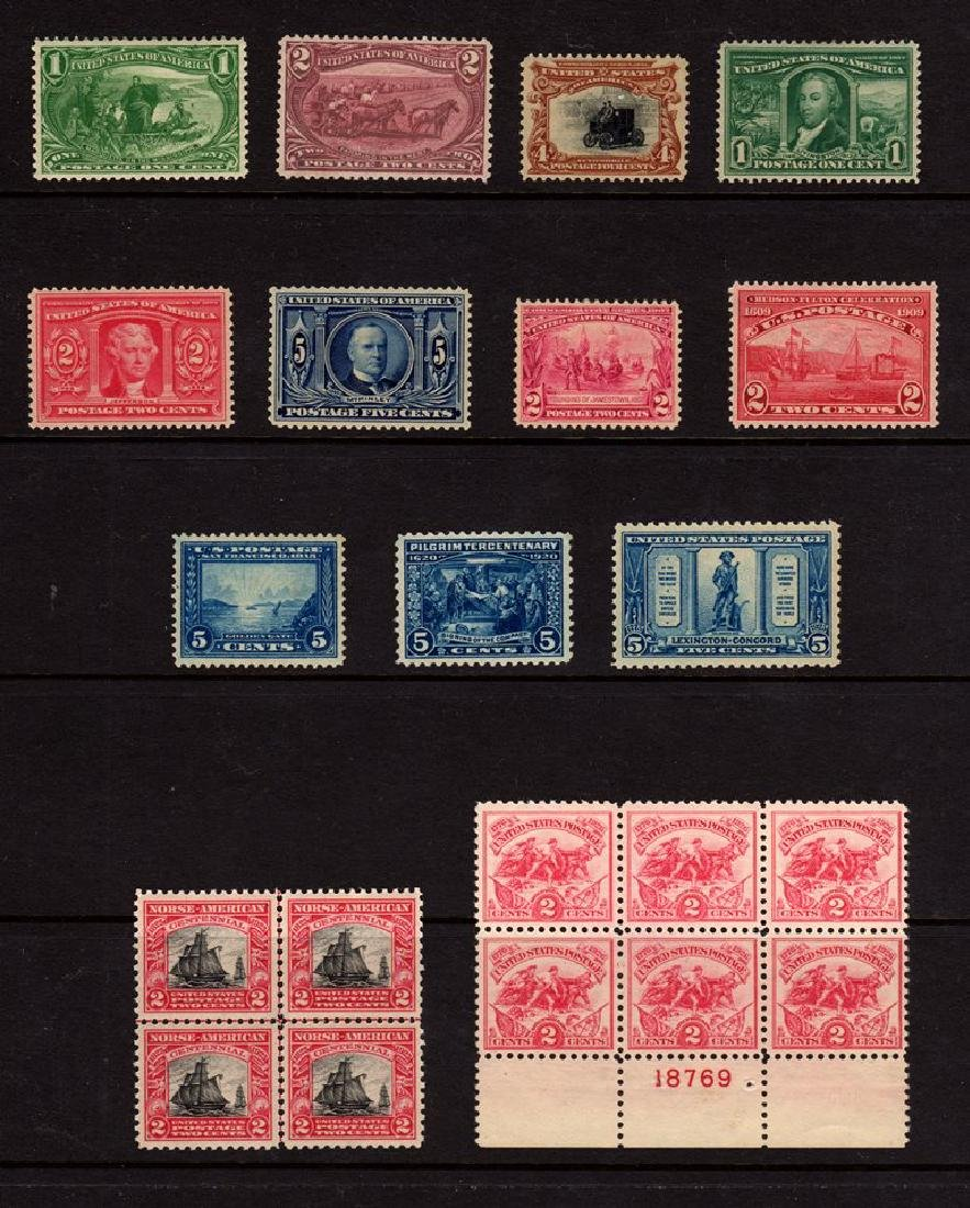 U.S. Unused Commemorative Lot 285//629