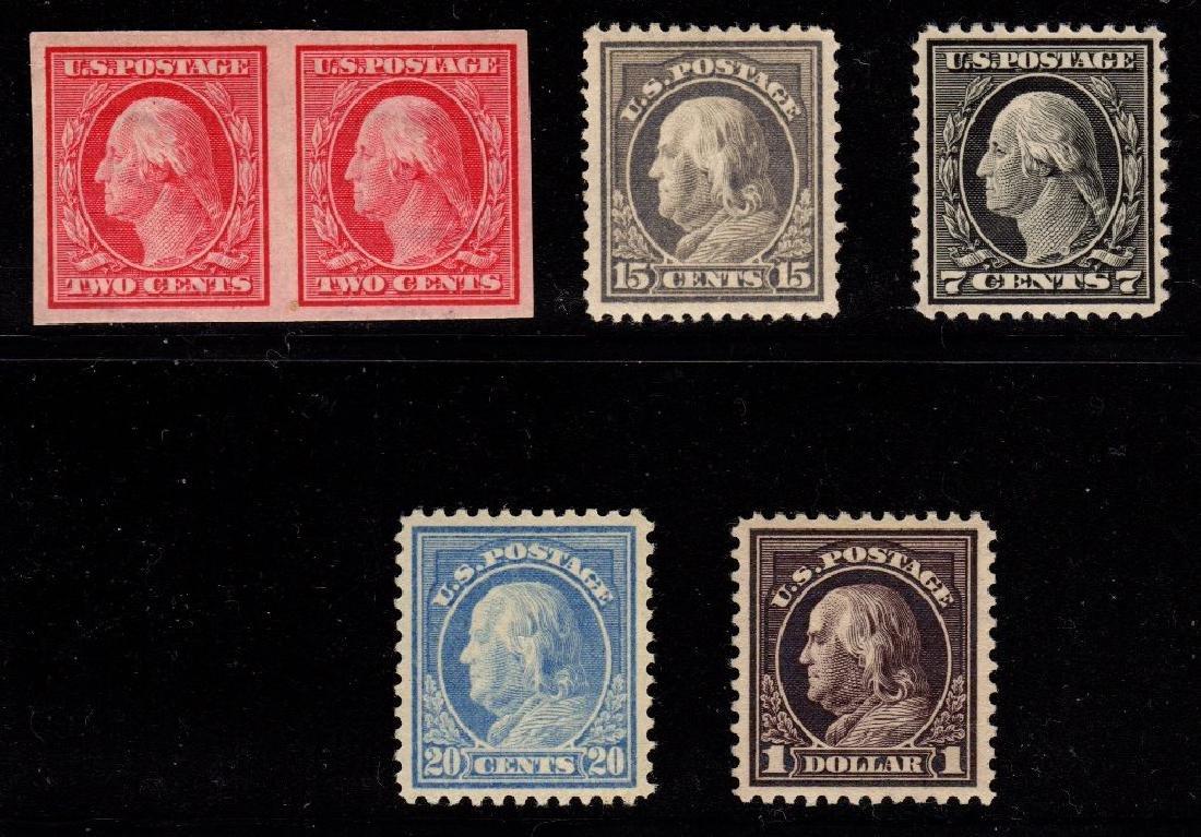 U.S. Unused Selection (5) Washington Franklins 344//518