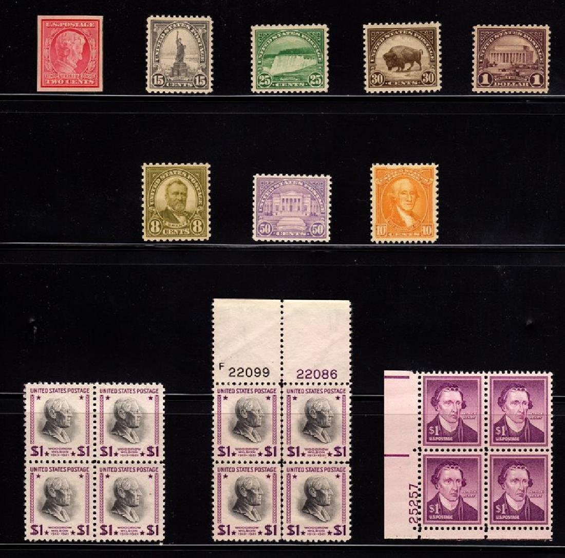 U.S. Unused Selection (11) Scott 368//1052 SCV.$250+
