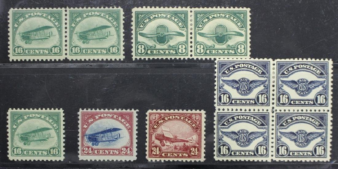 U.S. Unused airmail selection C2//C6, SCV $835.
