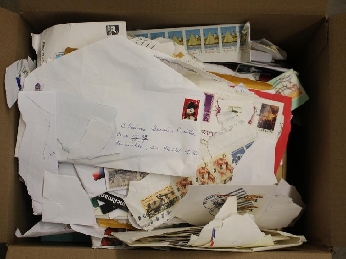 U.S. Stamps on Paper Accumulation
