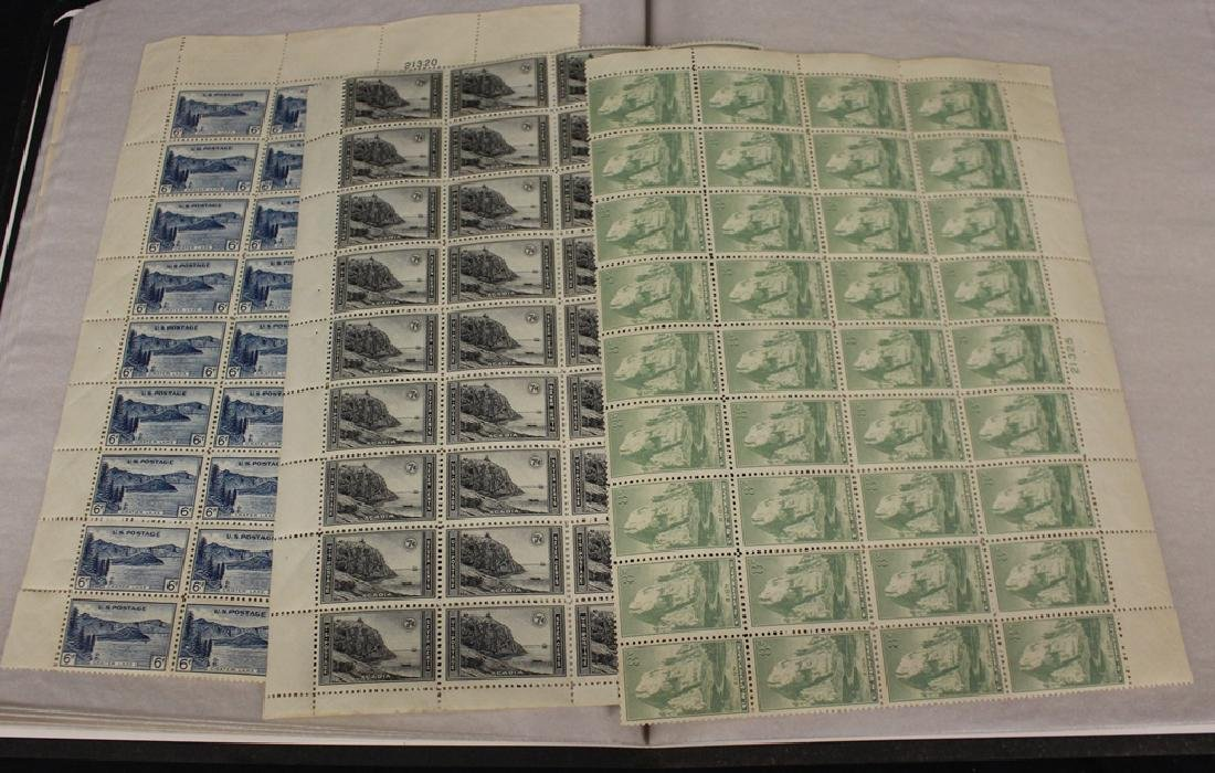 1934 National Parks Part Sheets