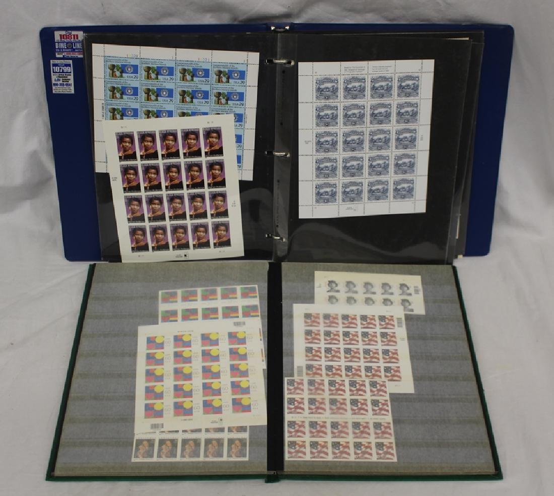 United States Sheets, Part Sheets and Postage Lot Face