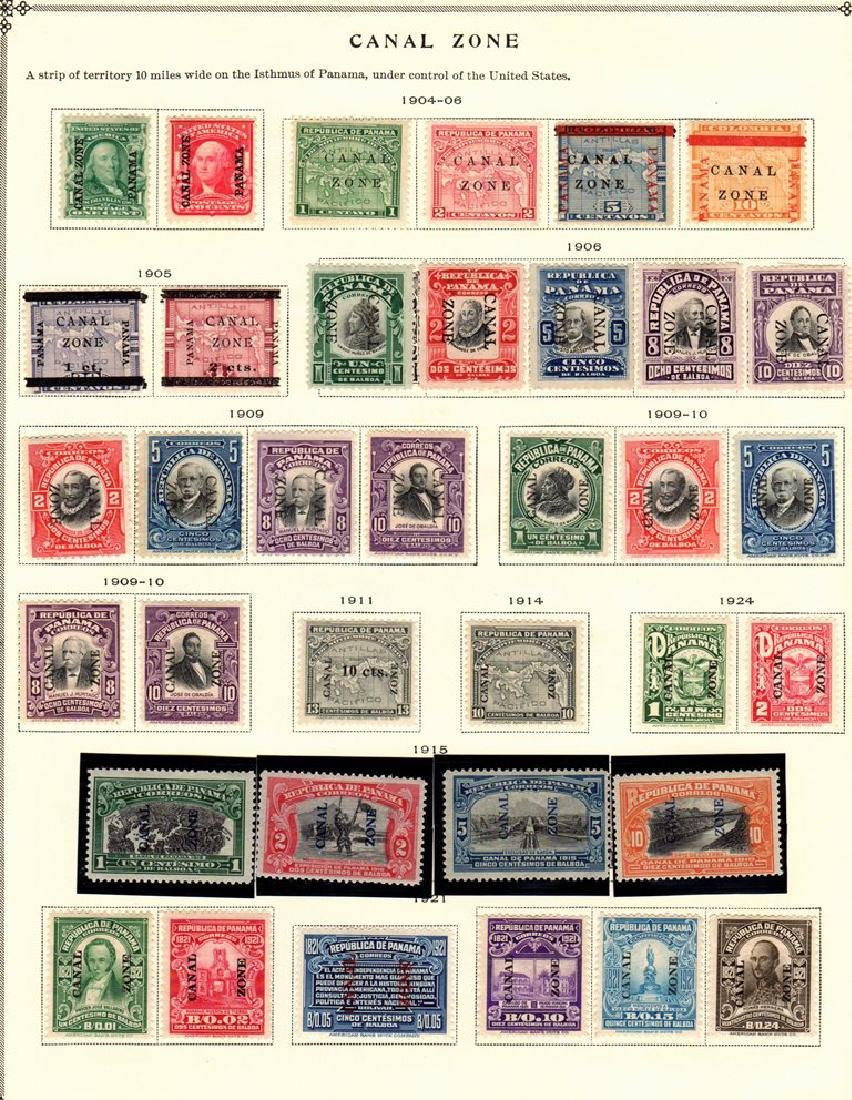 Canal Zone Unused Stamp Collection to 1939 SCV.$2100