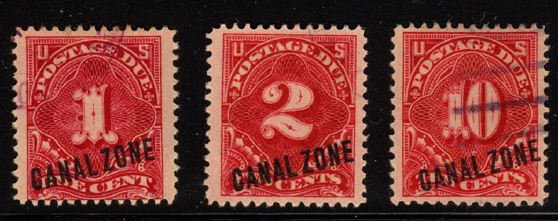 Canal Zone Scott J1-J3 Fine+ Used SCV.$97+