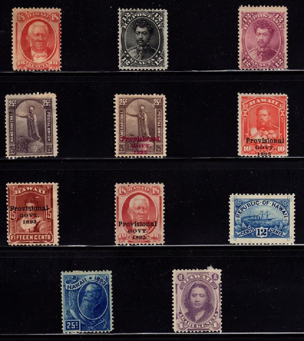 Hawaii Unused Selection (11) Stamps SCV.$550+