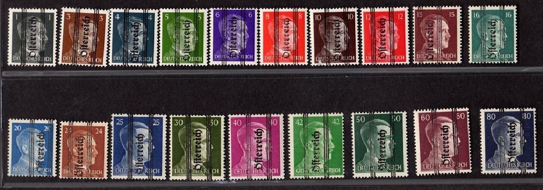 Austria Scott 405-423 F-VF OG NH Hitler Overprint set