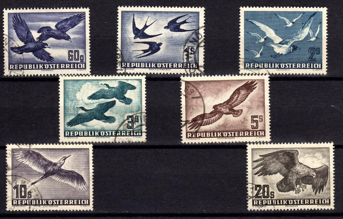Austira Scott C54-C60 VF Used Birds airmail set