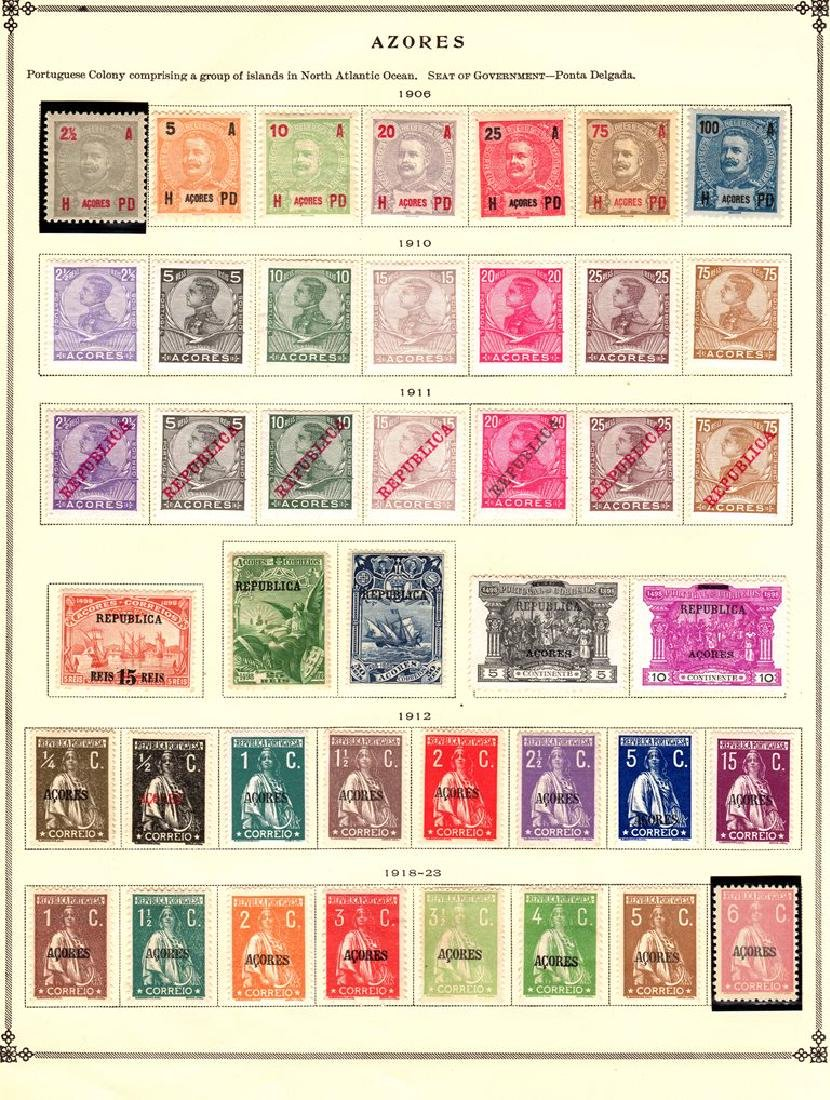 Azores Unused Used Stamp Collection to 1928 SCV.$440+