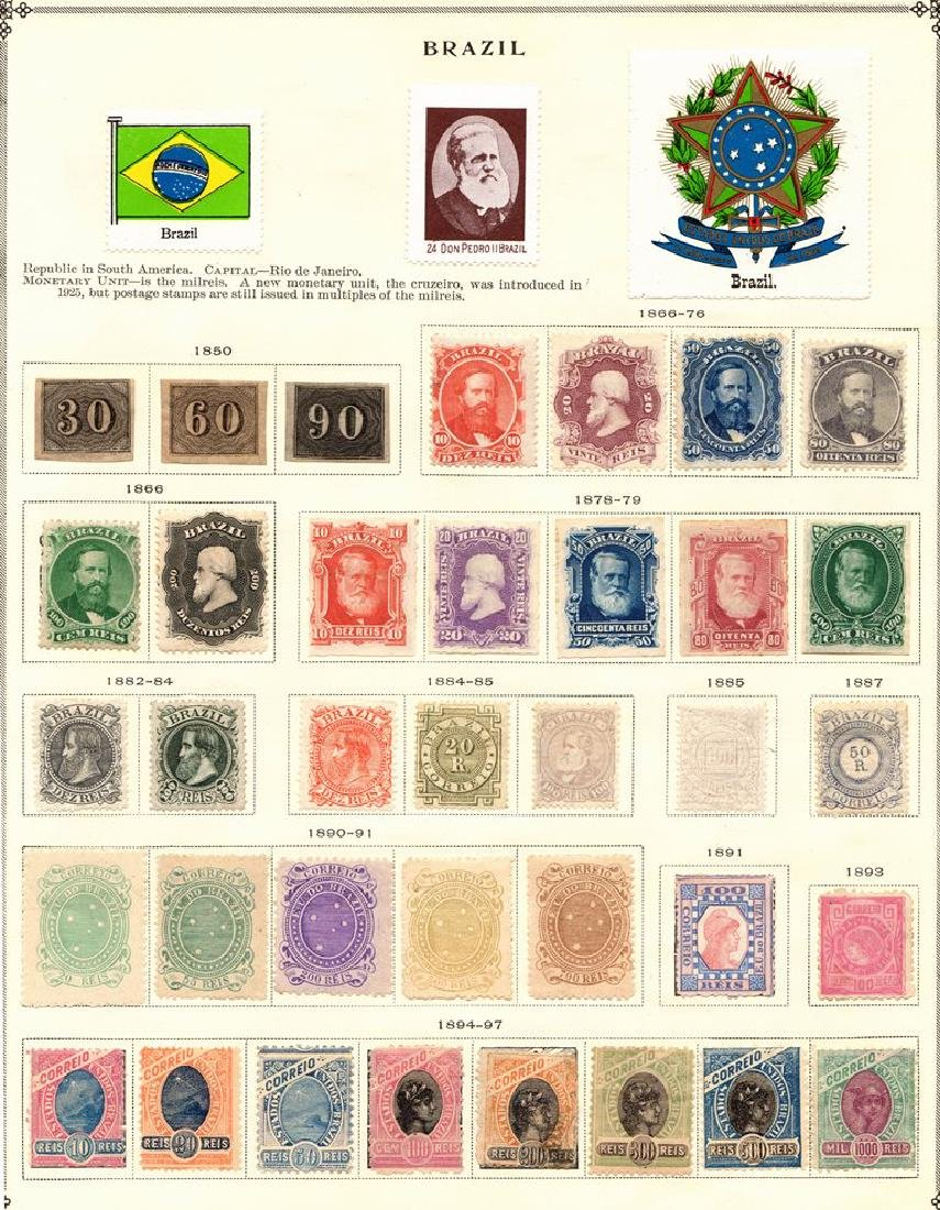 Brazil Unused Used Stamp Colecltion to 1940 SCV.$3100+
