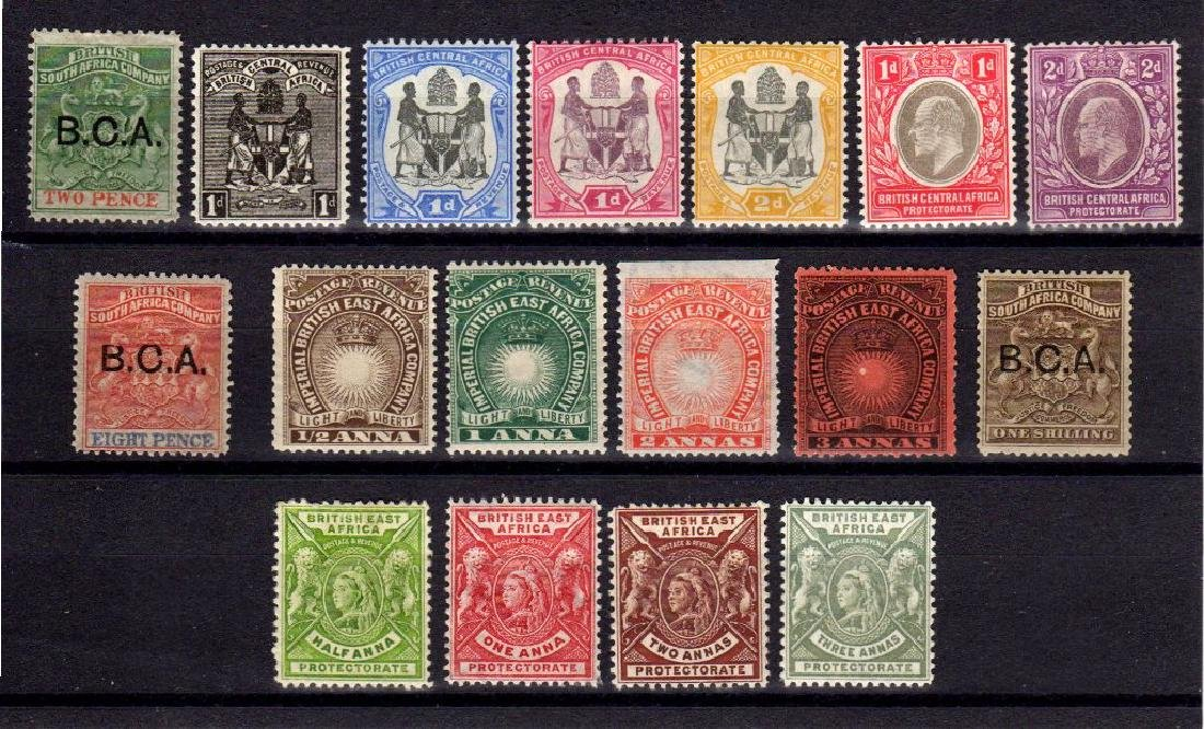 British Central and East Africa Unused Selection