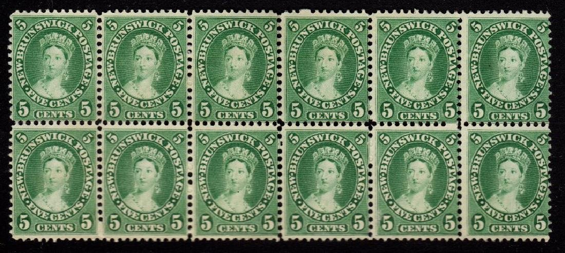 New Brunswick Scott 8 Fine Unused Block of 12 SCV.$360