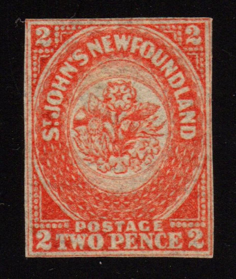 Newfoundland Scott 11 VF Unused 2p SCV.$475