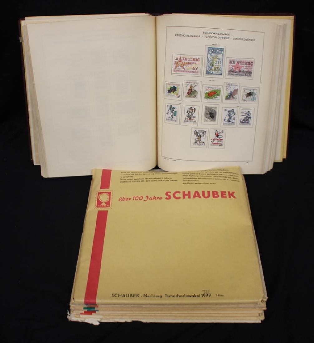 Czechoslovakia Unused Used Collection in Schaubek album