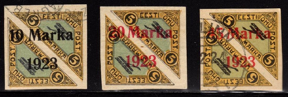 Estonia Scott C4-C6 VF Used/Unused SCV.$255