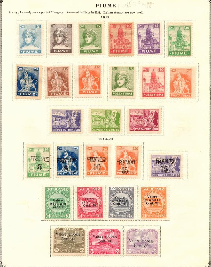 Fiume - Unused Stamp Collection to 1924 on Scott pages