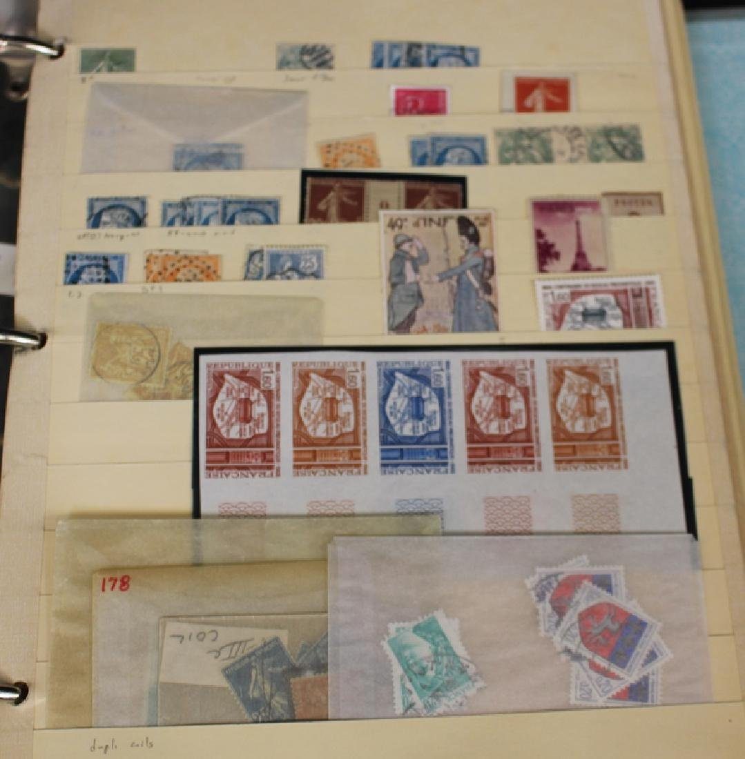 France - Used Unused Stock in thick binder