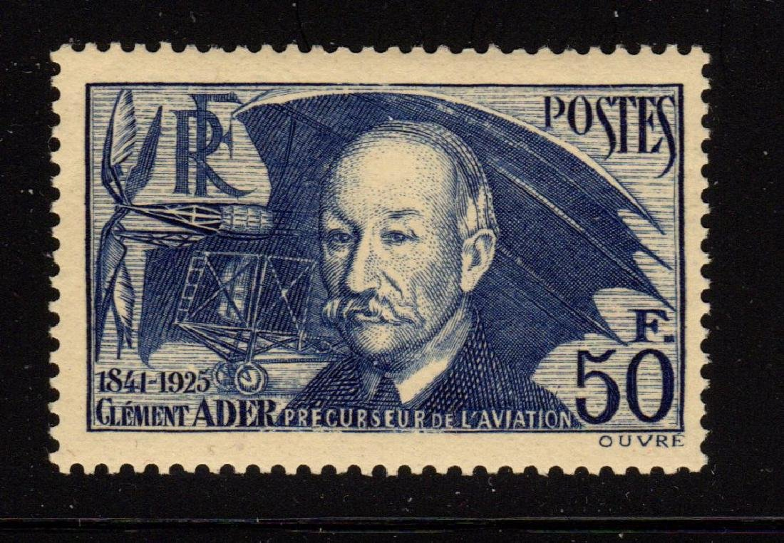 France Scott 348 VF OG NH Clement Ader SCV.$150