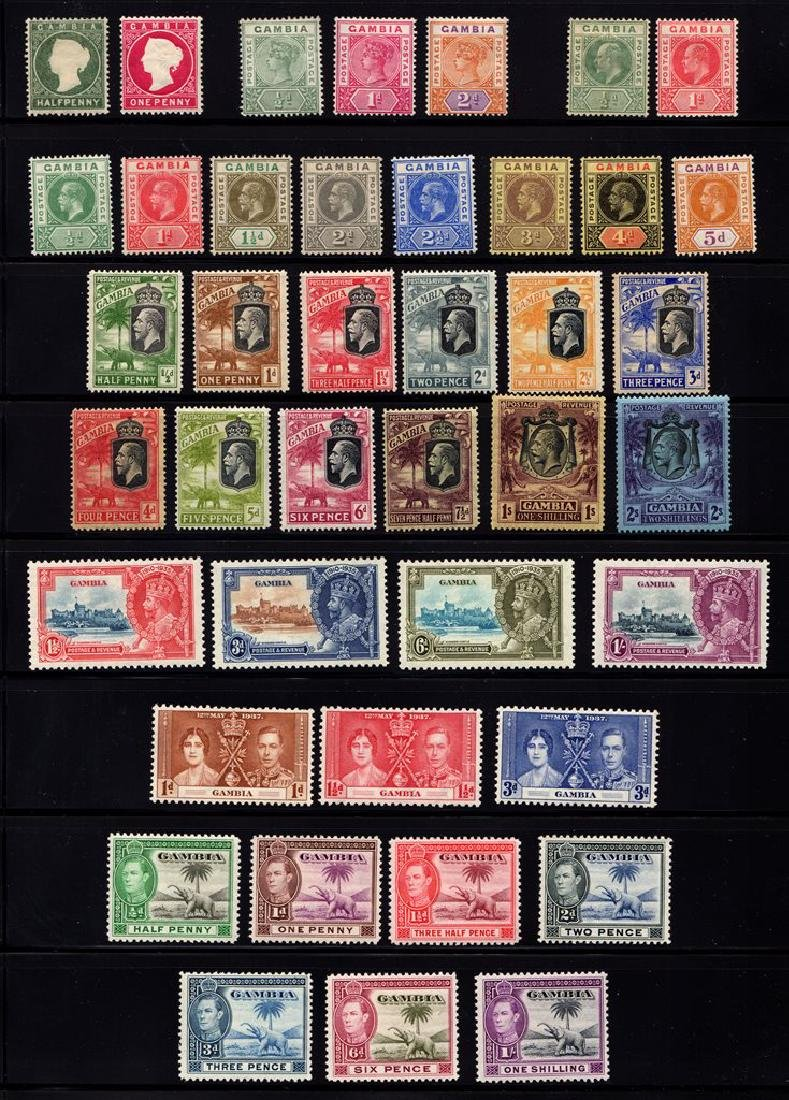 Gambia - Unused Stamp Selection to 1939 SCV.$1000+