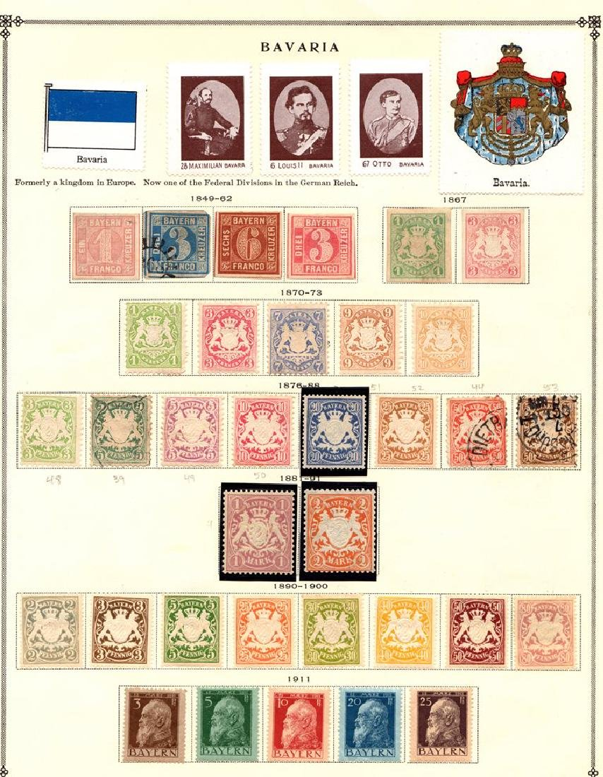 Germany Bavaria - Unused Used Stamp Collection